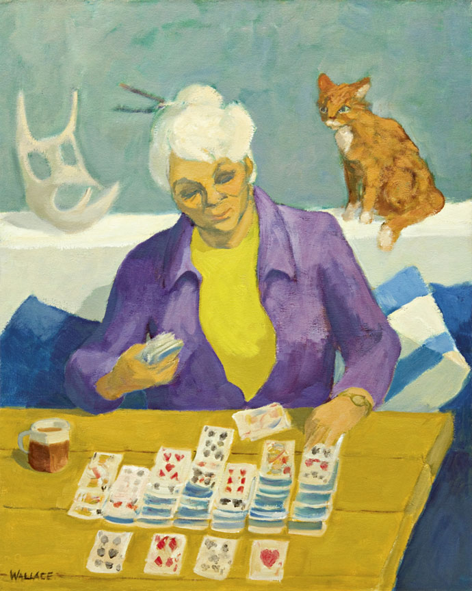 Marjorie Wallace: Self-portrait (playing 'Patience') - SOLD
