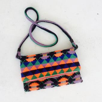 thumbnail for shoulder bag in tapestry, neon space macaroons