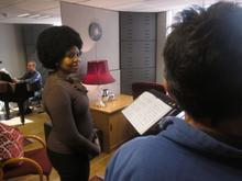Nonhlanhla invited us into her rehearsal room