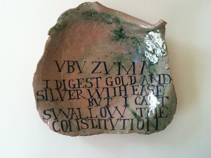 UBU ZUMA I DIGEST GOLD AND SILVER WITH EASE BUT I CANT SWALLOW THE CONSTITUTION