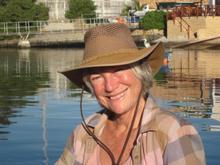 Pat Evans with trademark hat