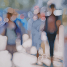 afternoon shimmer - 90cm x 90cm, oil on canvas