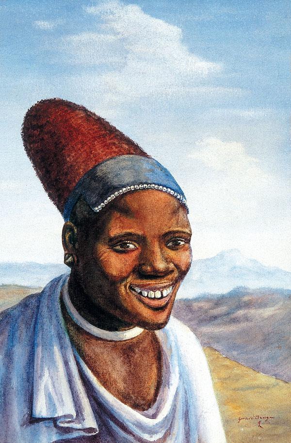 Portrait of a Pondo woman