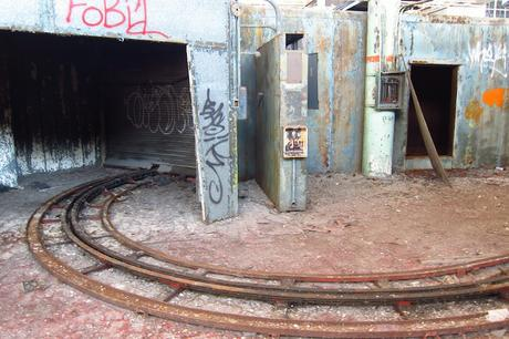 Abandoned auto assembly track