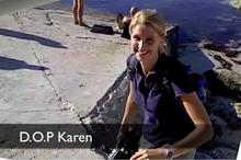 Camerawoman extraordinaire Karen Landsberg