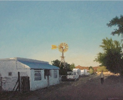 Evening walk, Prince Albert - SOLD