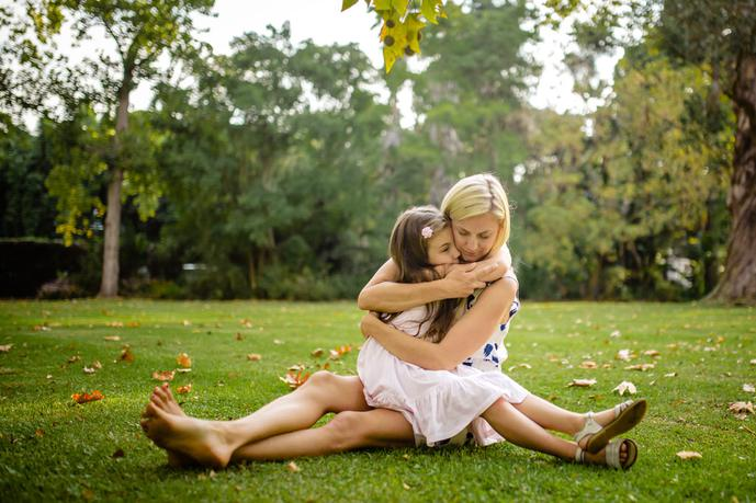 thumbnail for Mother and daughter photo in the lush gardens of Fancourt South Africa.