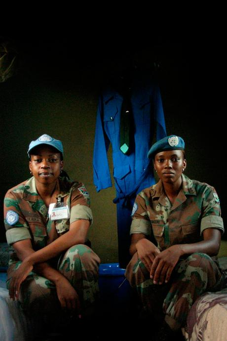 thumbnail for South African United Nations soldiers in their tent at base camp, Goma, DRC.