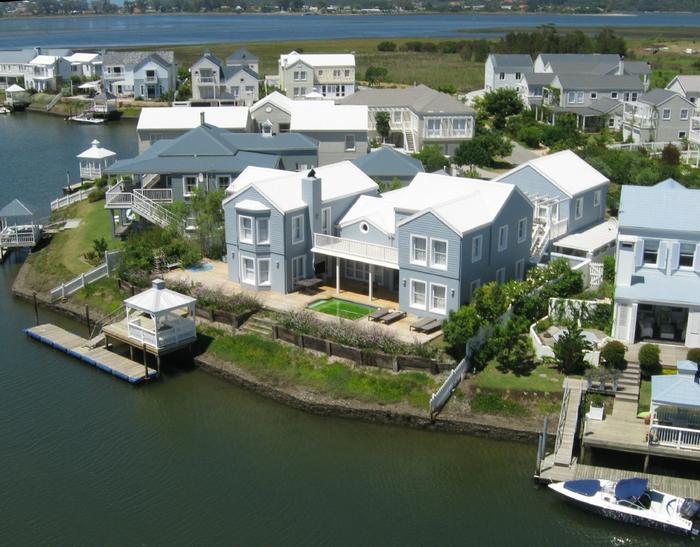 Aerial photograph Knysna Thesen Island
