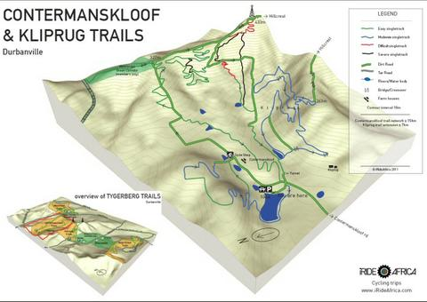 Contermanskloof mountain bike map