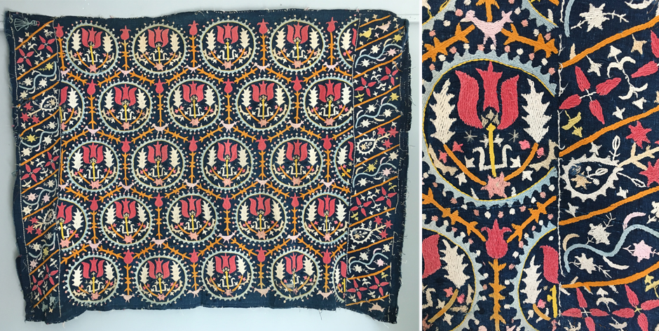 Armenian embroidery from Marash Turkey  possibly an alter cover • late 19th cent