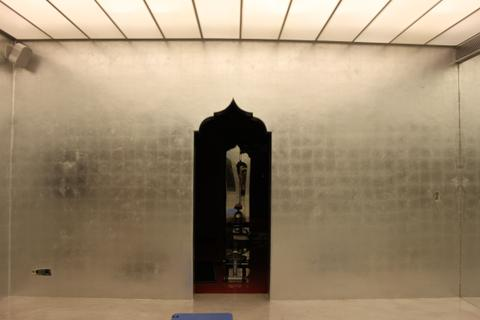 Enigma Mansion: silver leafed walls