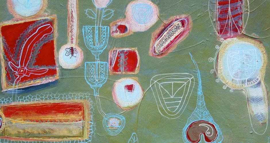 Arrangement of parts, detail | Oil on canvas