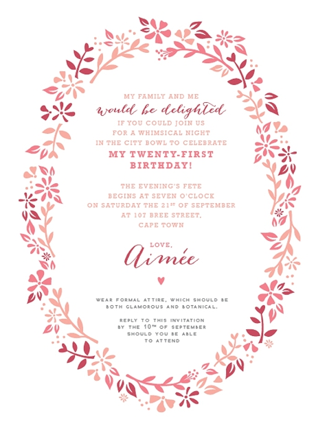 21St Invite Templates with beautiful invitations template