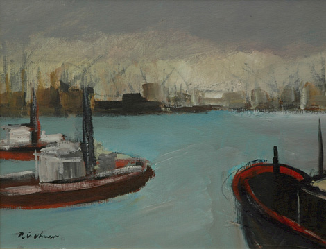Harbour scene - SOLD
