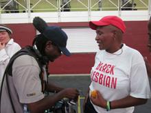 Sound Recordist Jabu Msomi mics up Funeka