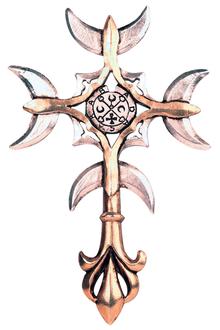 <b>FB16 Goetia Cross</b> - Intuition (piece hangs both ways) <br><b>Price:R470</b>