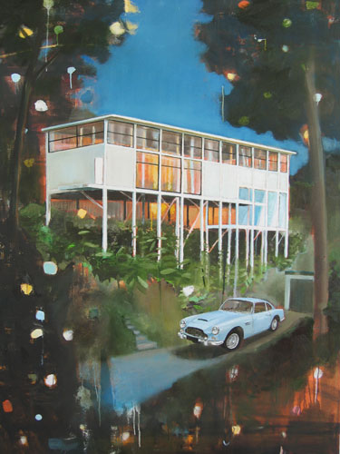 Happy New Year House, oil on canvas, 170 x 120 cm, 2006