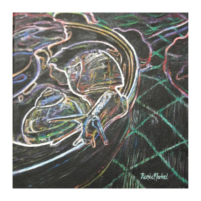 Renée Morkel    L'Escargot  Bouffandeau's snail    Oil on canvas    20 x 20cm    R 950