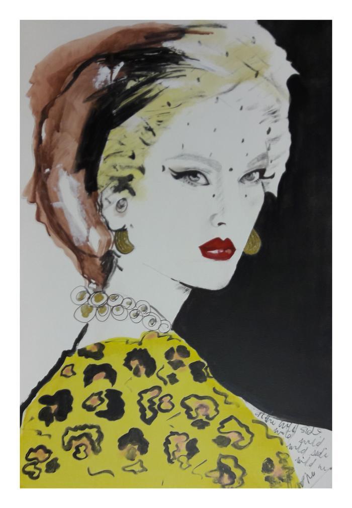 Karene Fisher La Femme Acrylic on canvas  40 x 60 cm R1200