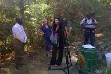 Lisa and the crew prepare to interview Gabrielle's partner Sylvester Gasani