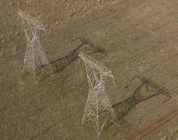 Aerial Photograph Eskom Power Lines Pretoria South Africa