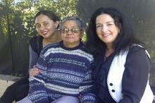 Marlene, her mom Christine and Show Host Lisa Chait