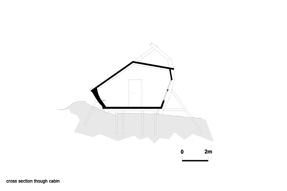 Cross section through cabin