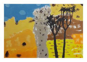 Selwyn       Desert aloe      Acrylic on canvas     60 cm  x  90 cm       R5000.00