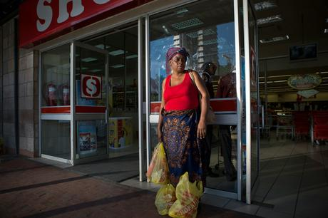 thumbnail for Sally Kankomba, 49, is a housewife and just did her monthly shopping.- Shoprite, Cairo Road, Lusaka
