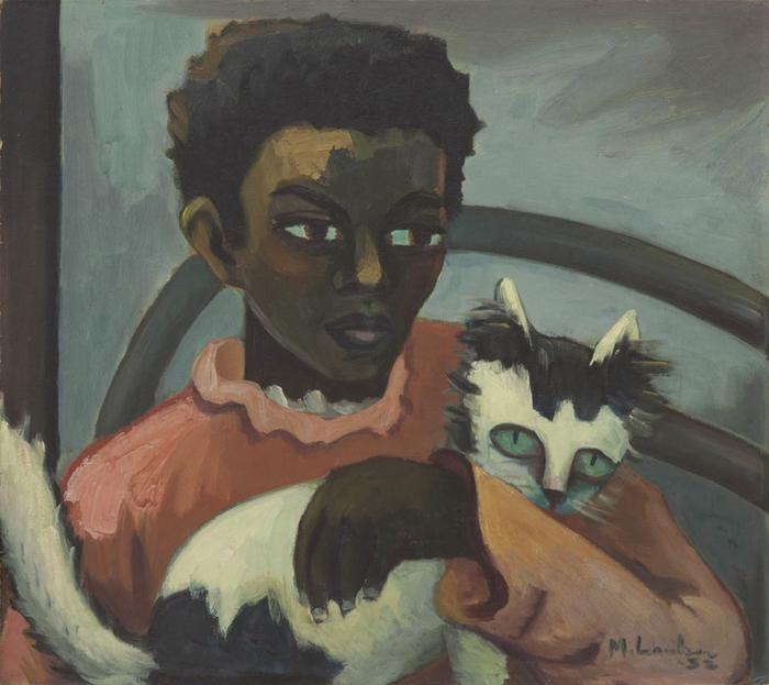 Girl with cat - SOLD