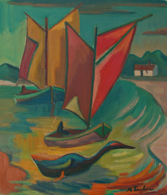 Boats and bird - SOLD