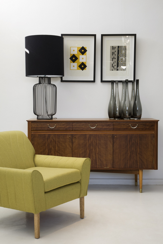 Retro chair and vintage sidebaord