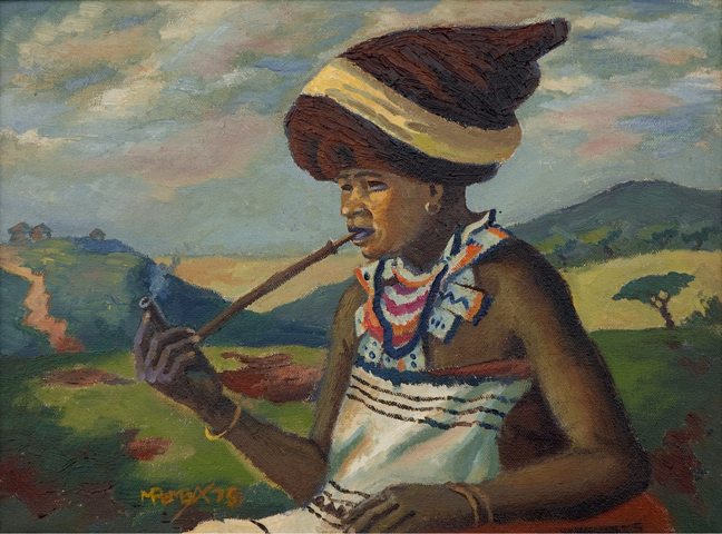 Traditional Xhosa woman - SOLD