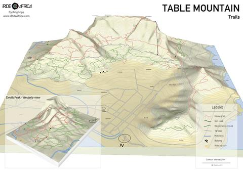 Table Mountain trails map