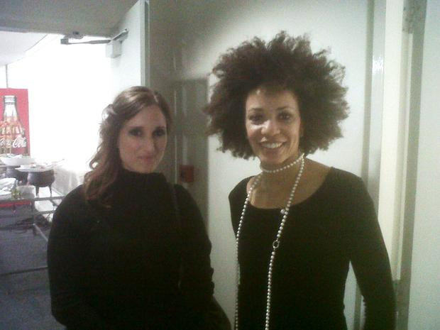Lisa B and Cindy Blackman backstage at the CTown International Jazz Festival 2011