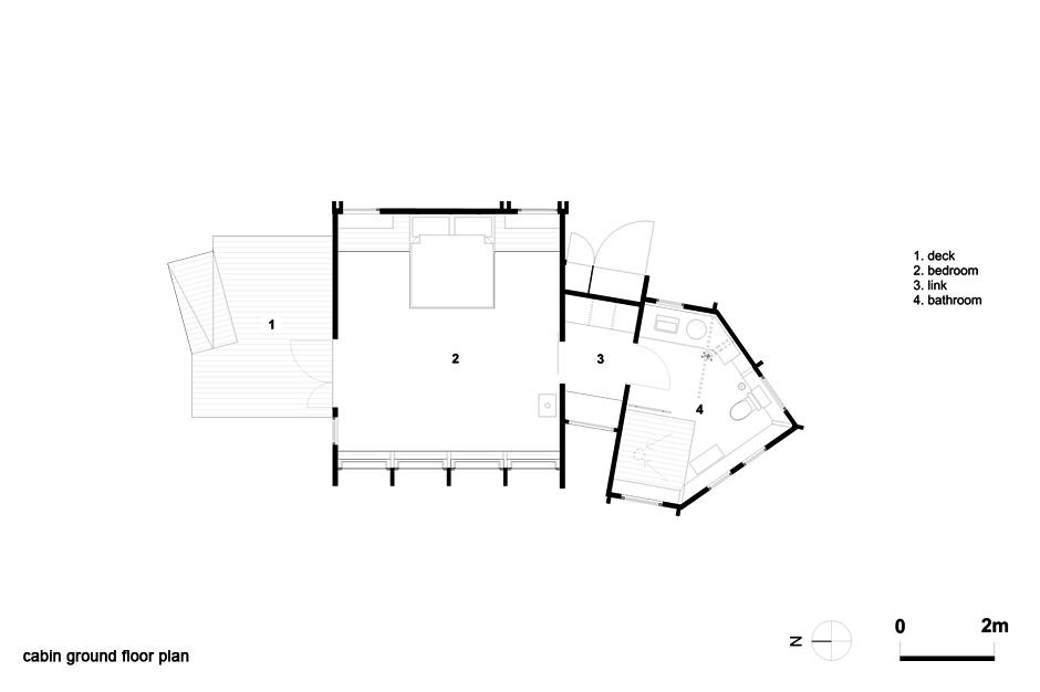 Cabin ground floor plan