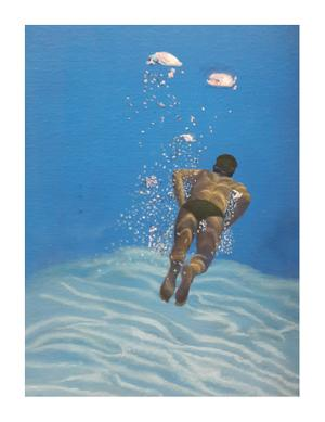 Adrienne Lee    Bubbles    Acrylic and Oil on canvas    30x40 cm    R3500