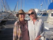 Pat with her pal Sandra Prinsloo