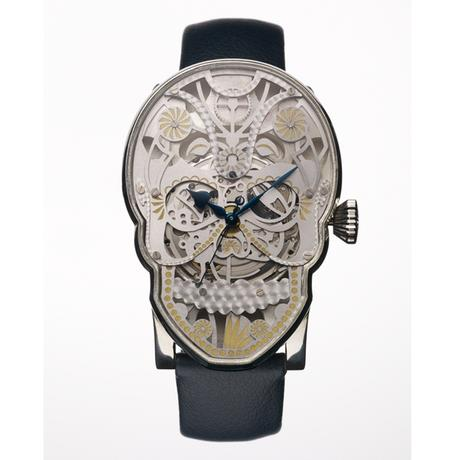 thumbnail for 'Memento Mori' hand-made mechanical watch.