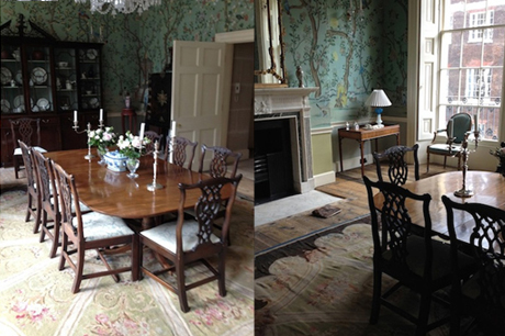 London UK • Chinoiserie Dining Room conservation