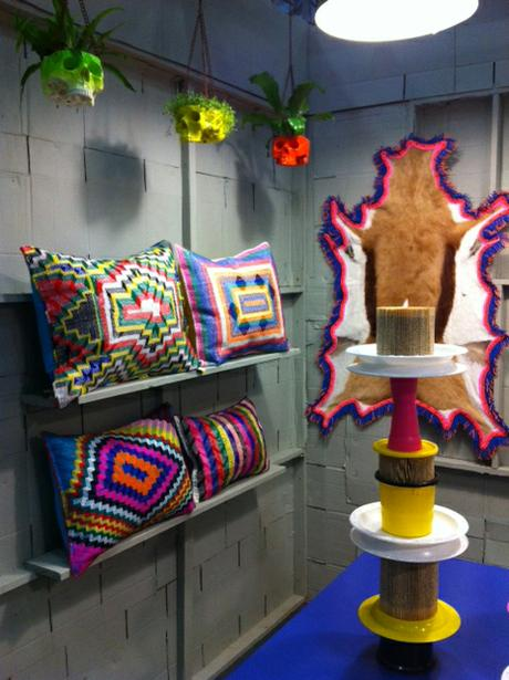 Langazela cushions at Memphis Meets Africa exibition curated by Lidewij Edelkoort.