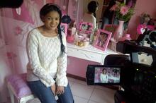 Sandra's daughter Johandra in her 'pink room'