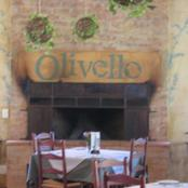 Olivello Restaurant: signage and aged walls