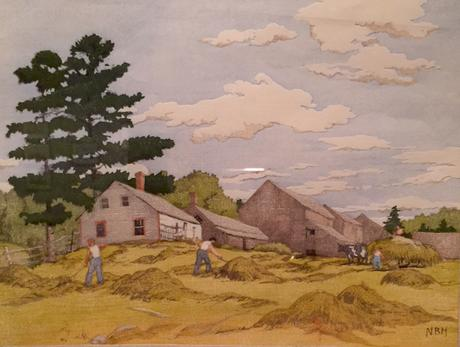 A Vermont scene — print by Norma Bassett Hall