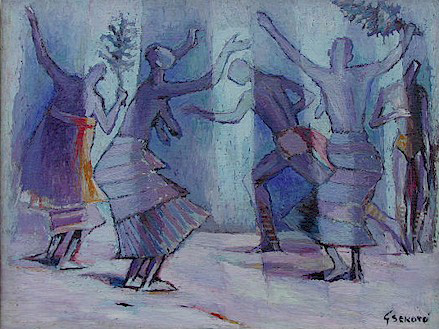 Dancing figures, Senegal - SOLD