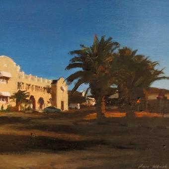 thumbnail for Springbok Hotel. Oil on panel. 16 x 20cm
