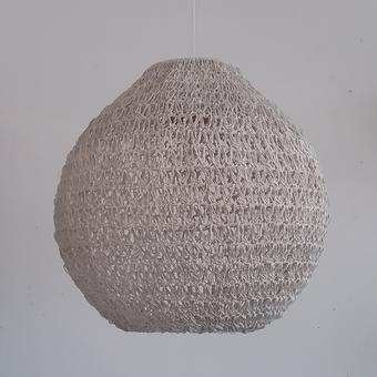 thumbnail for 500mm diameter resin ball shade in white hydra stitch