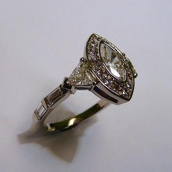 thumbnail for Marquise diamond ring