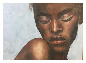Debby Silver     Eyes closed     Oil     66x46 cm     R3500
